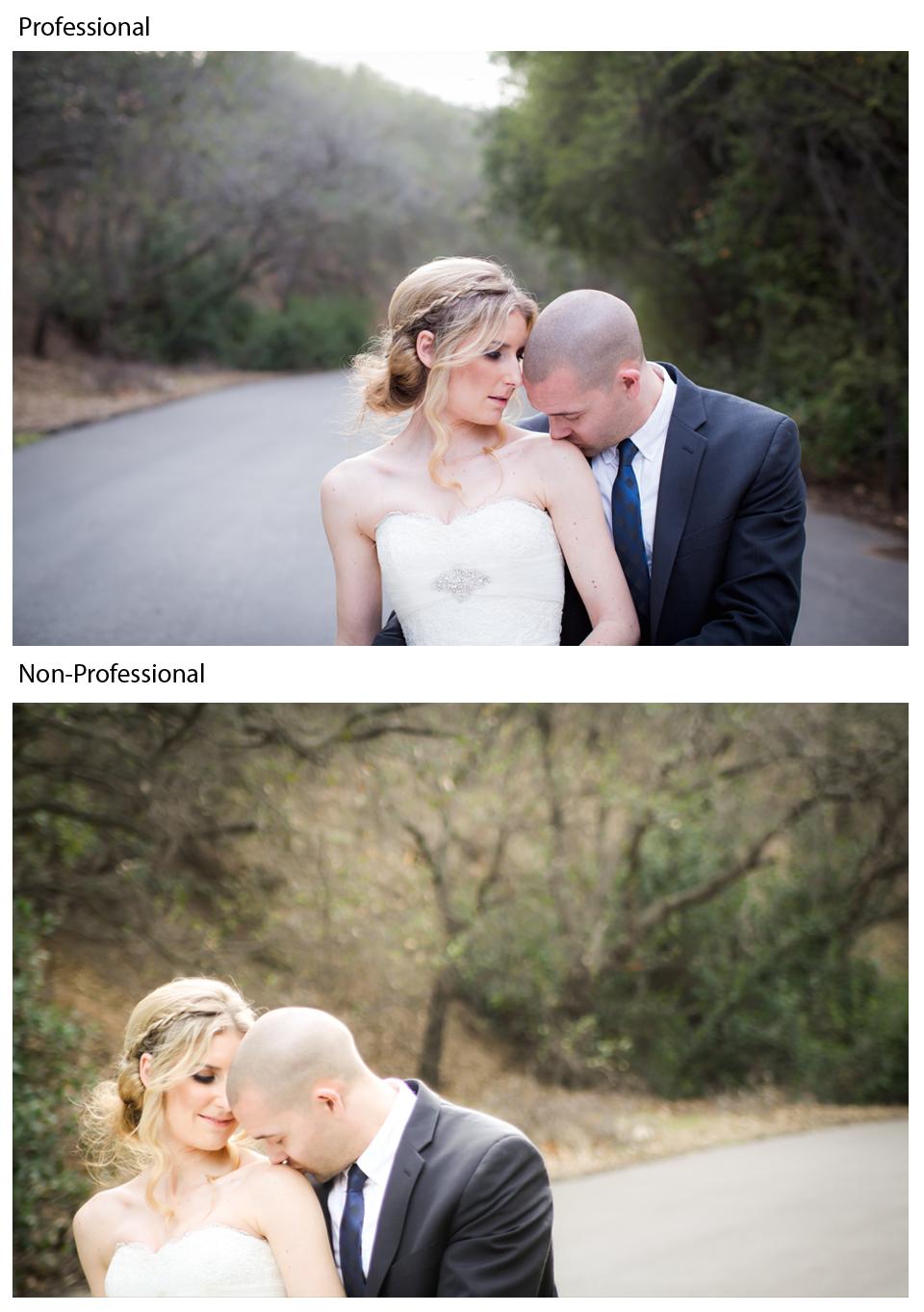 professional vs amateur wedding photographers