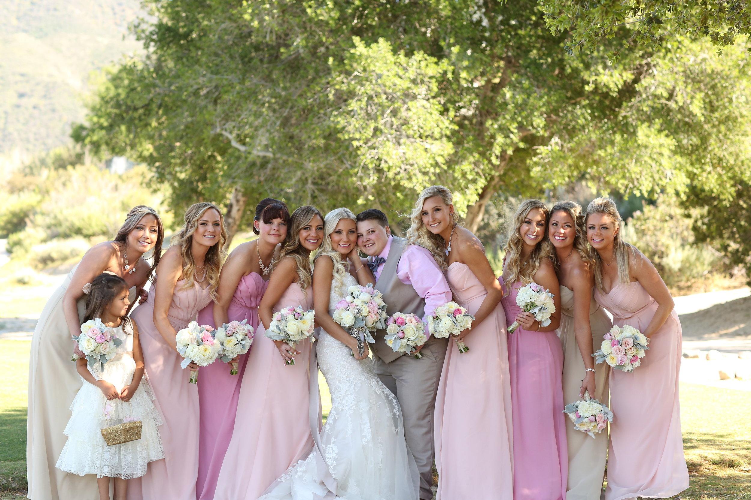 bridesmaid shot
