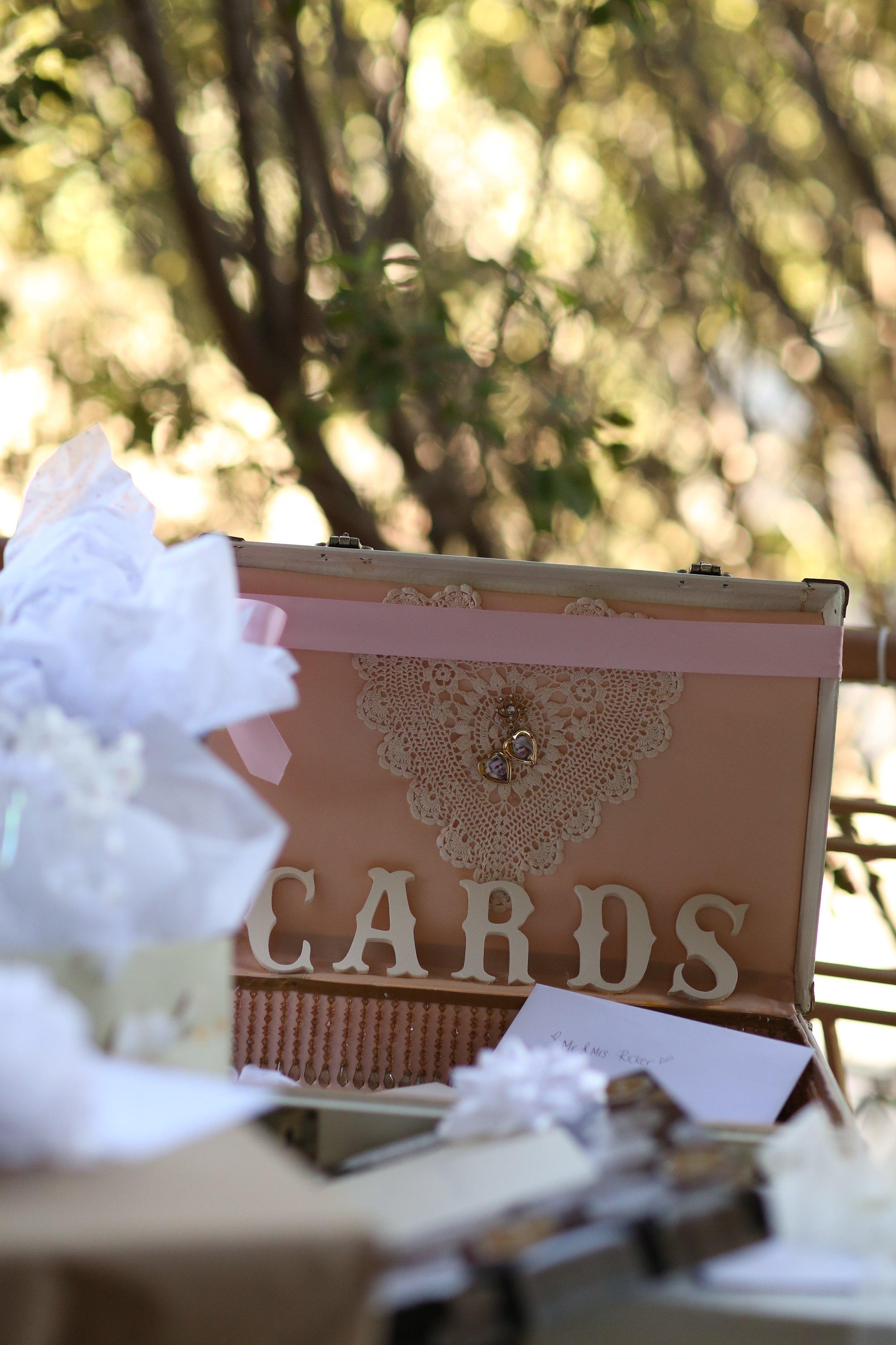 vintage wedding suitcase card box