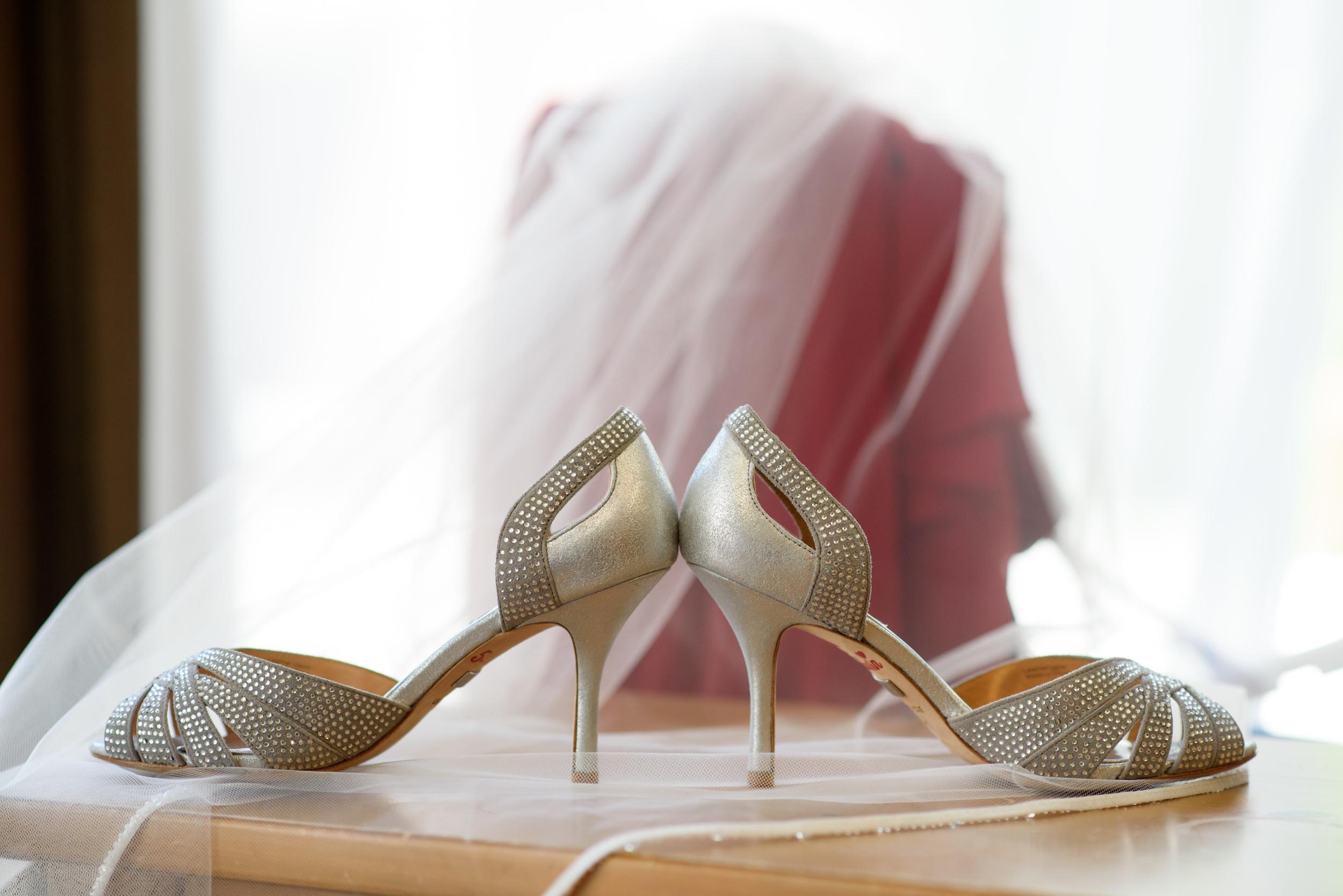gold bridal heels
