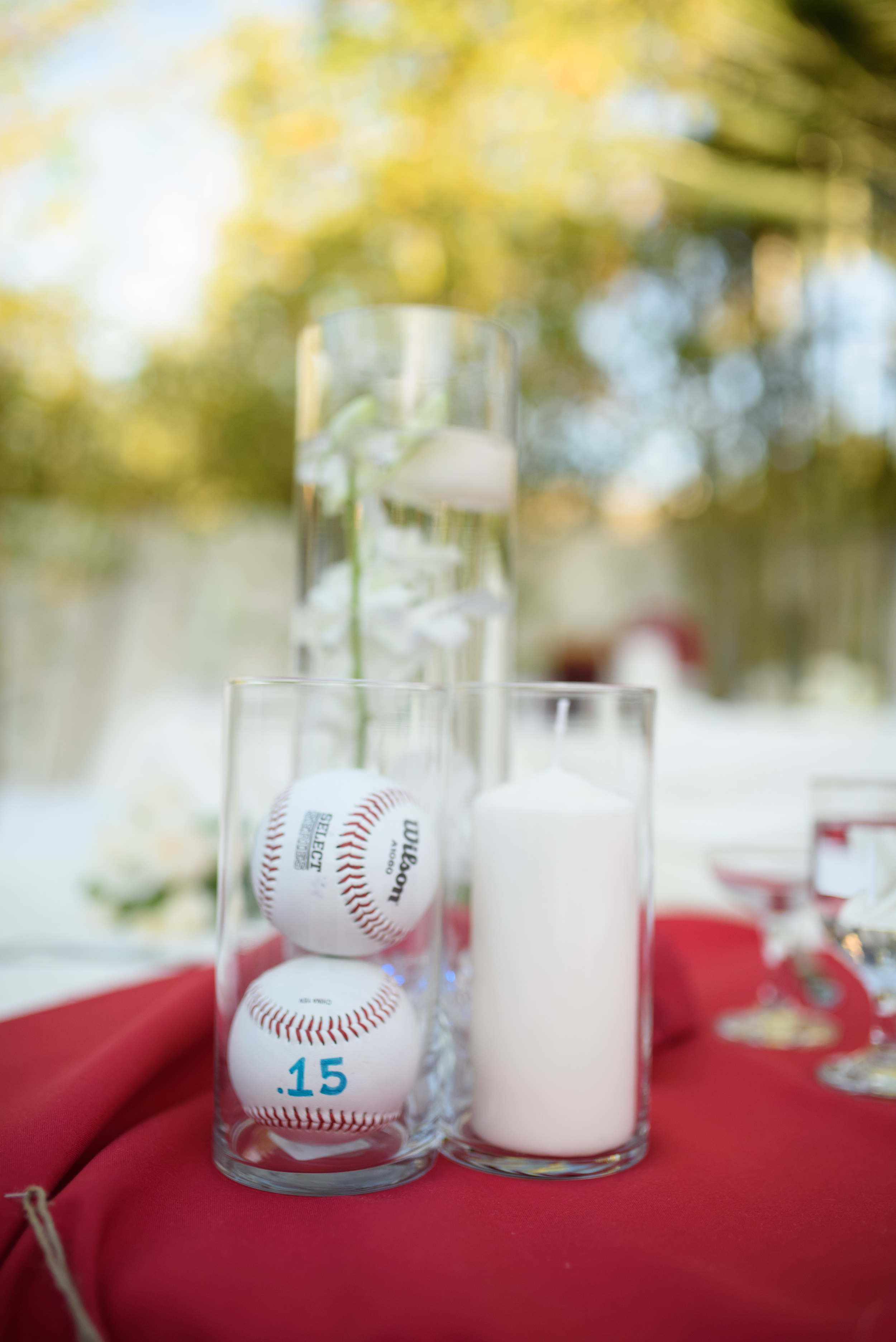baseball themed wedding centerpieces