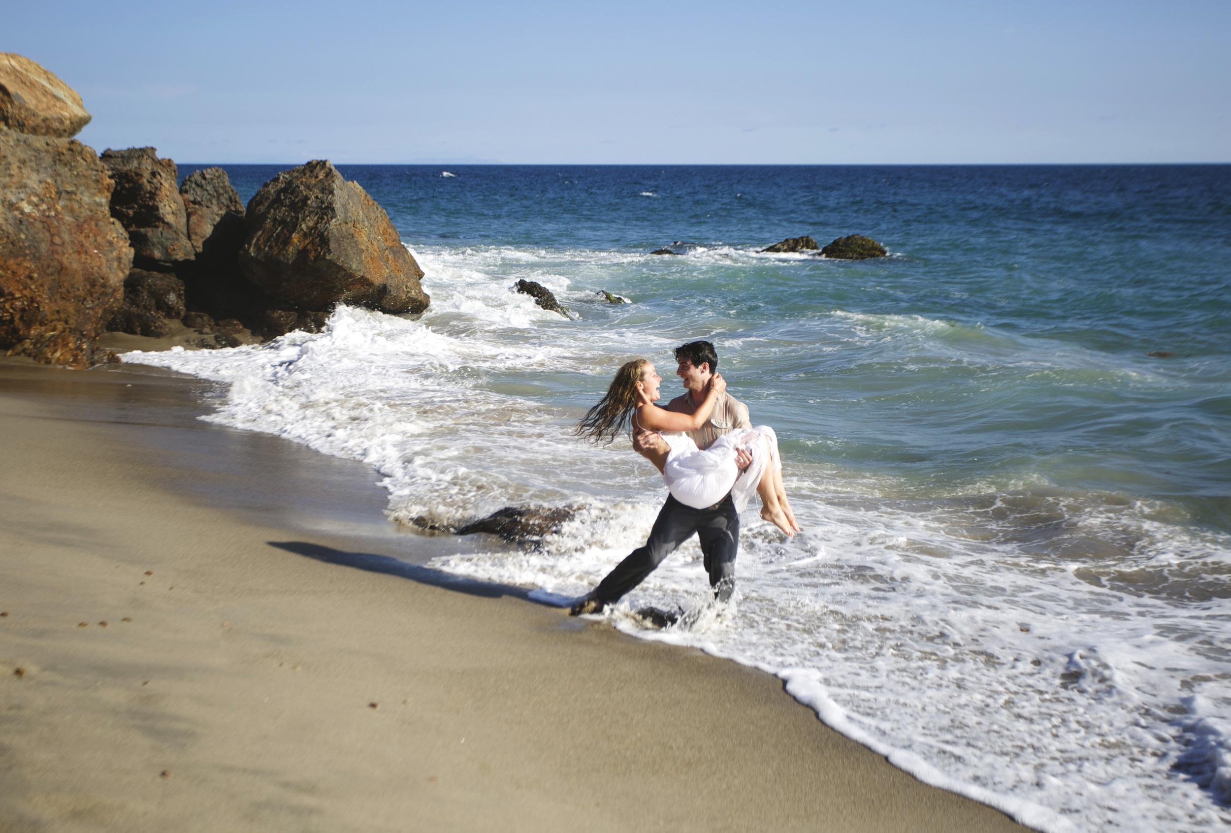 malibu beach wedding point dume