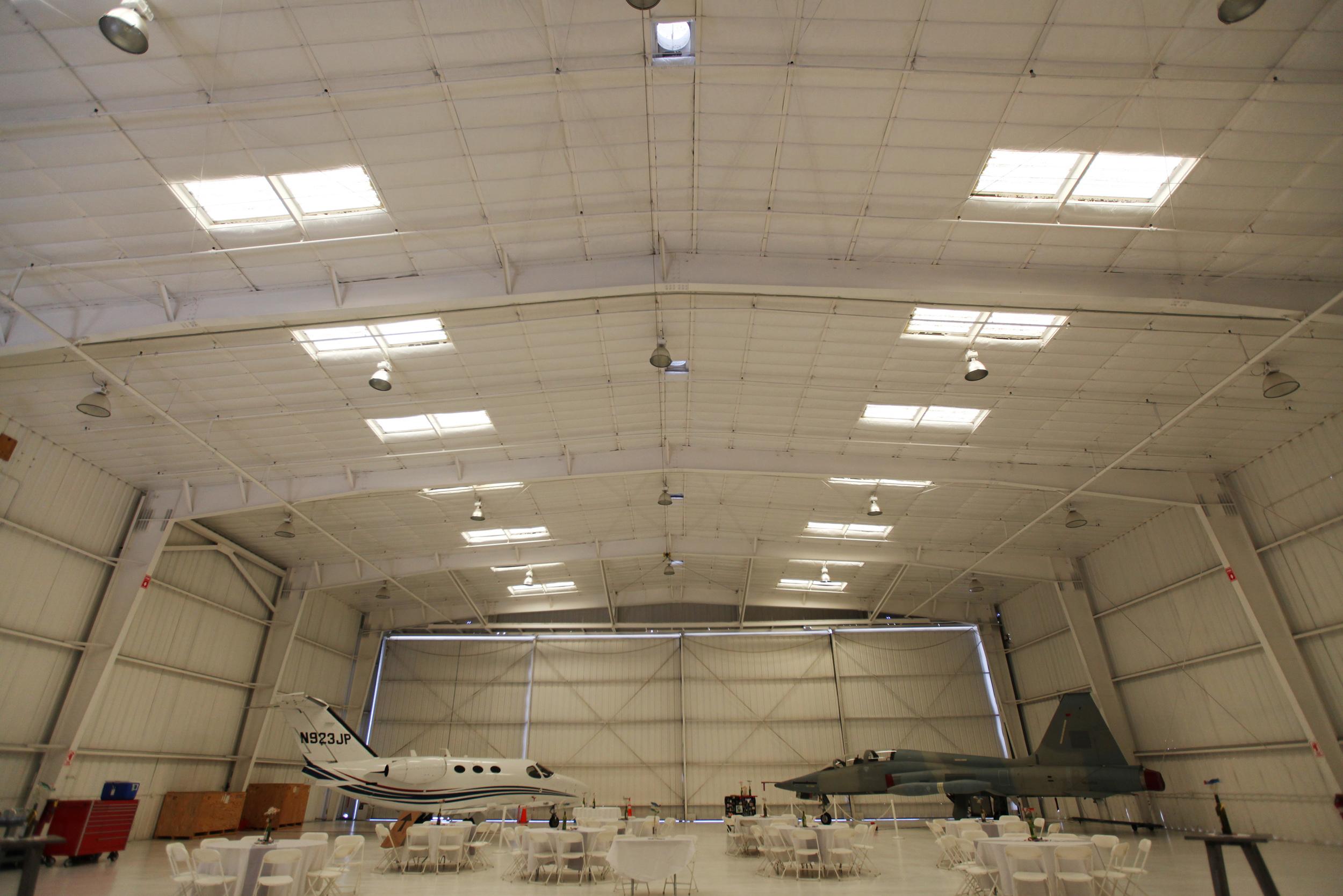 van nuys airport hangar wedding