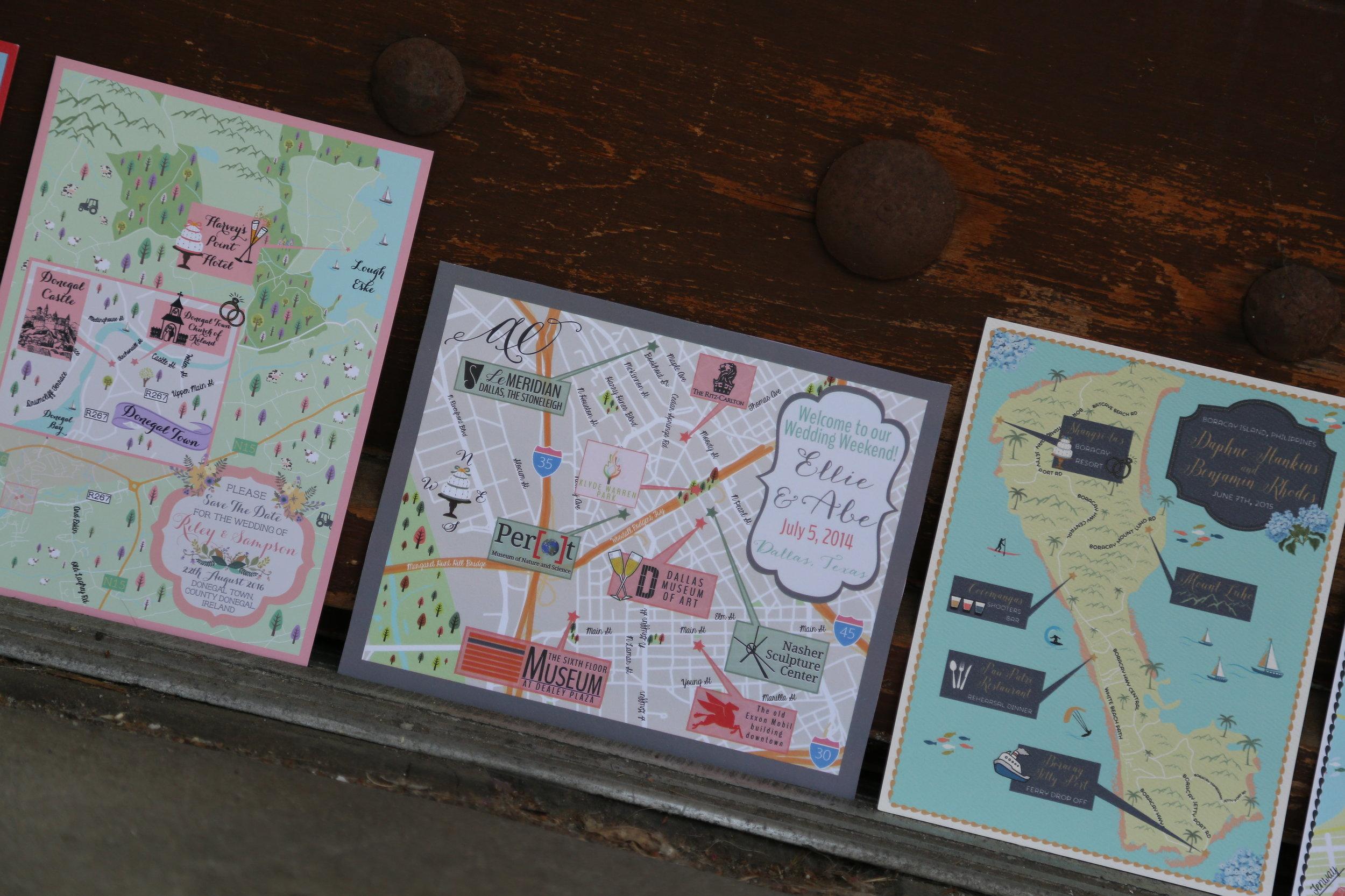 Custom Wedding Maps