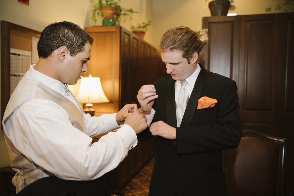 groom getting ready shots