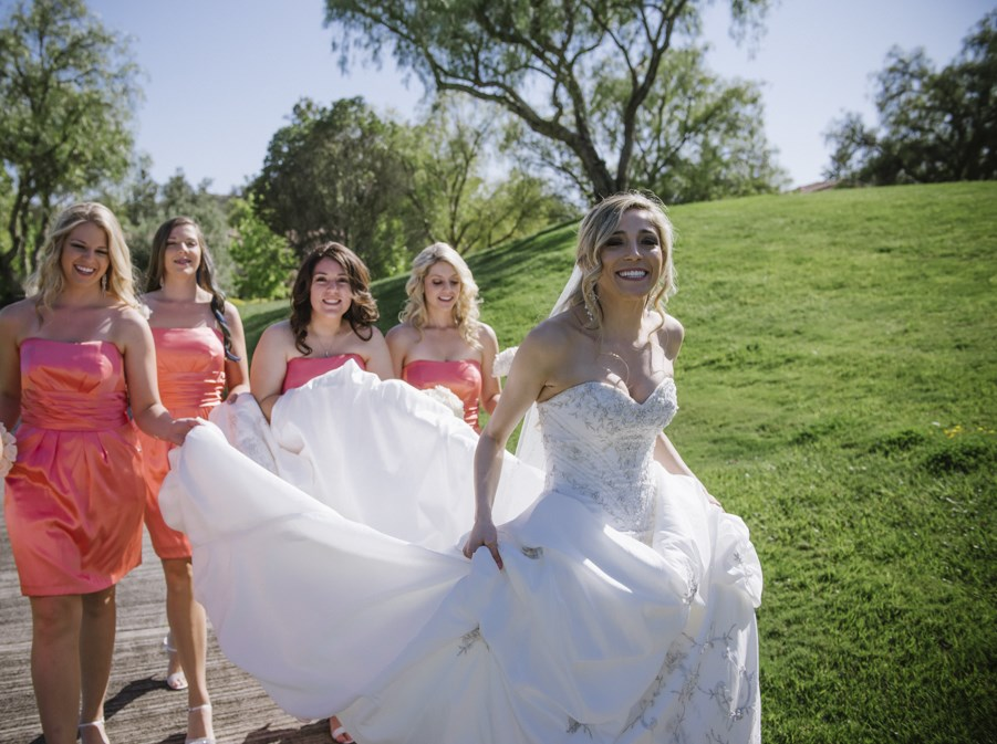 bridesmaid getting ready shots