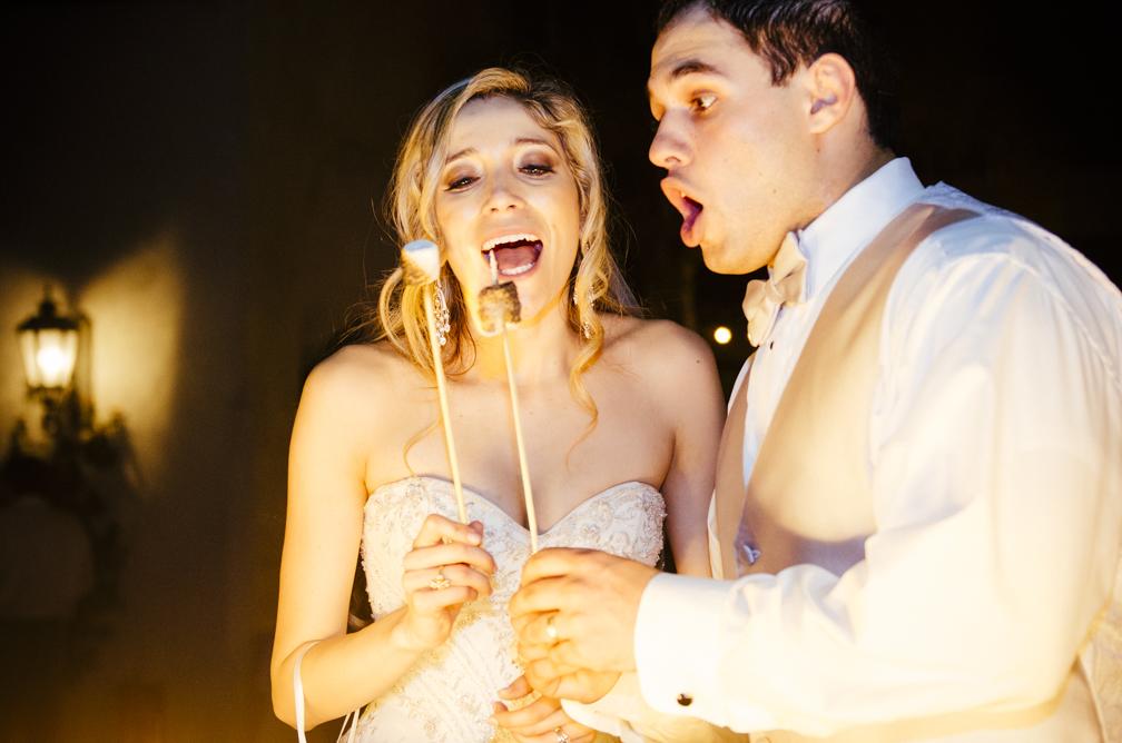 wedding smore bar