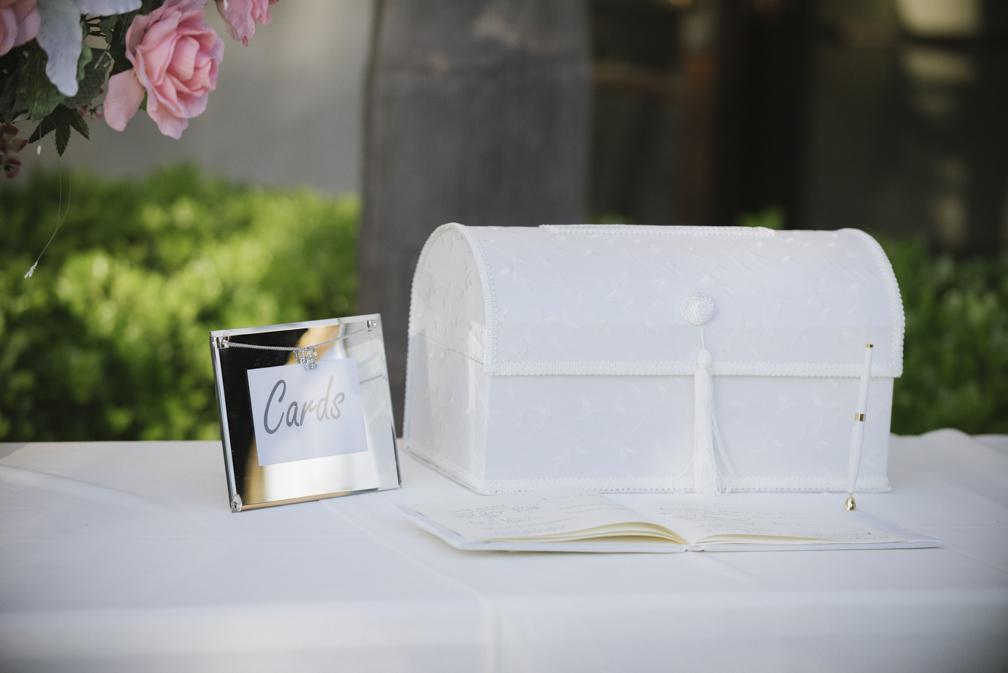 elegant wedding card box