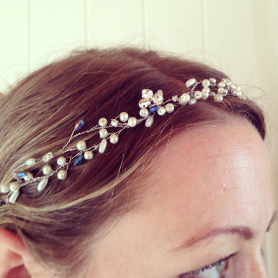 something blue bridal hairpiece