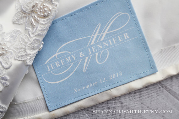 something blue wedding dress patch