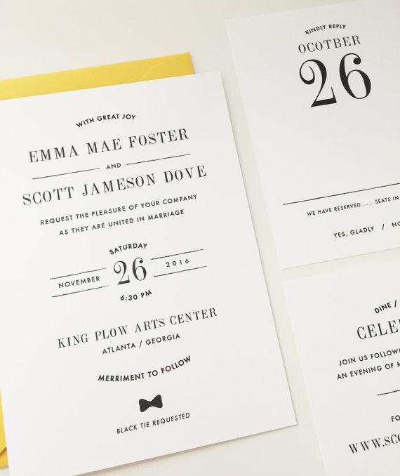 18 Simple Inexpensive Wedding Invitations The