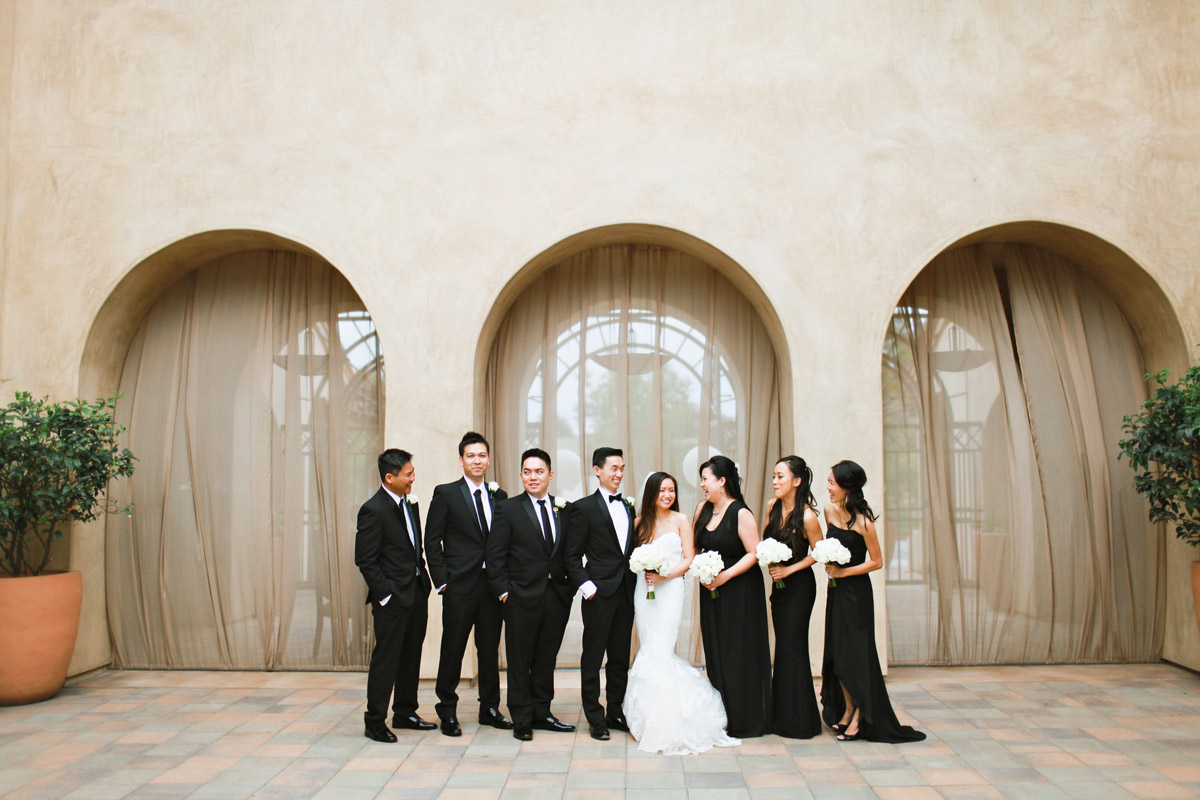 bridal party photos formal