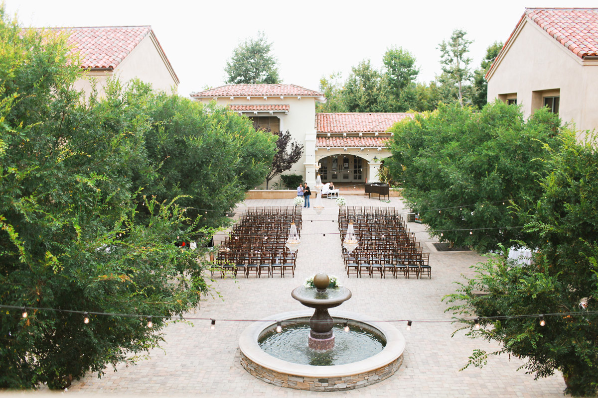 serra plaza courtyard wedding ceremony