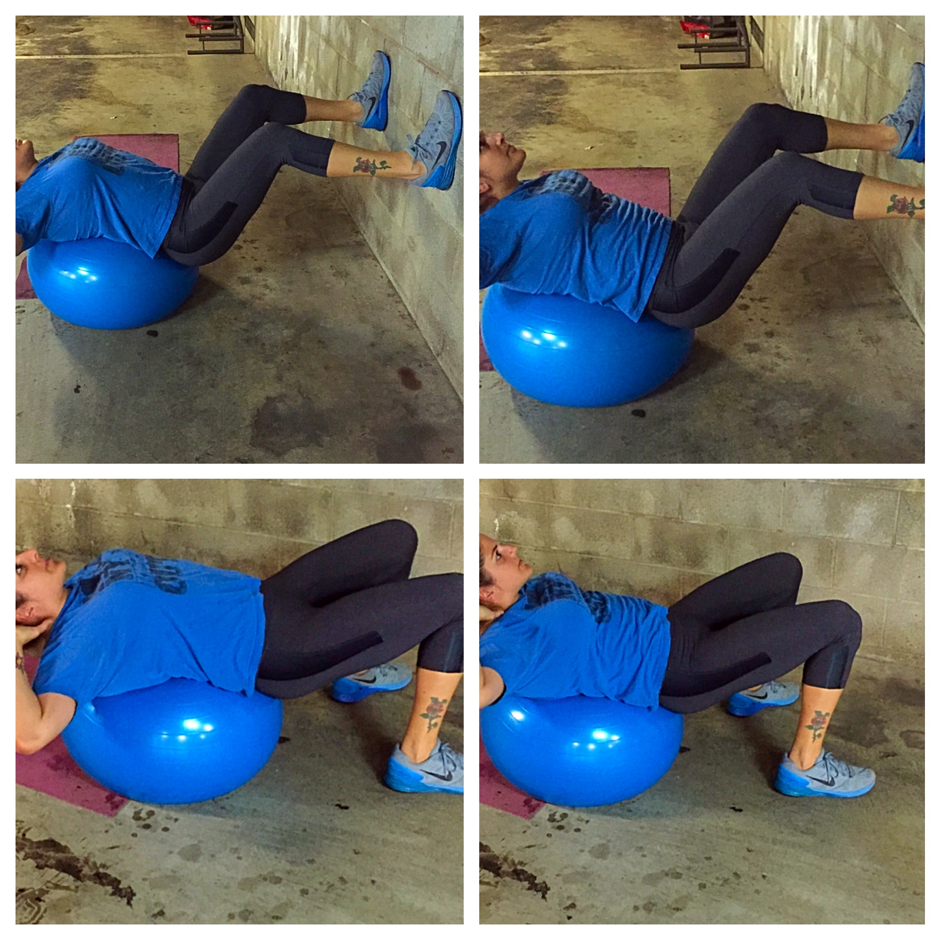 stability ball crunches, bride to be exercises