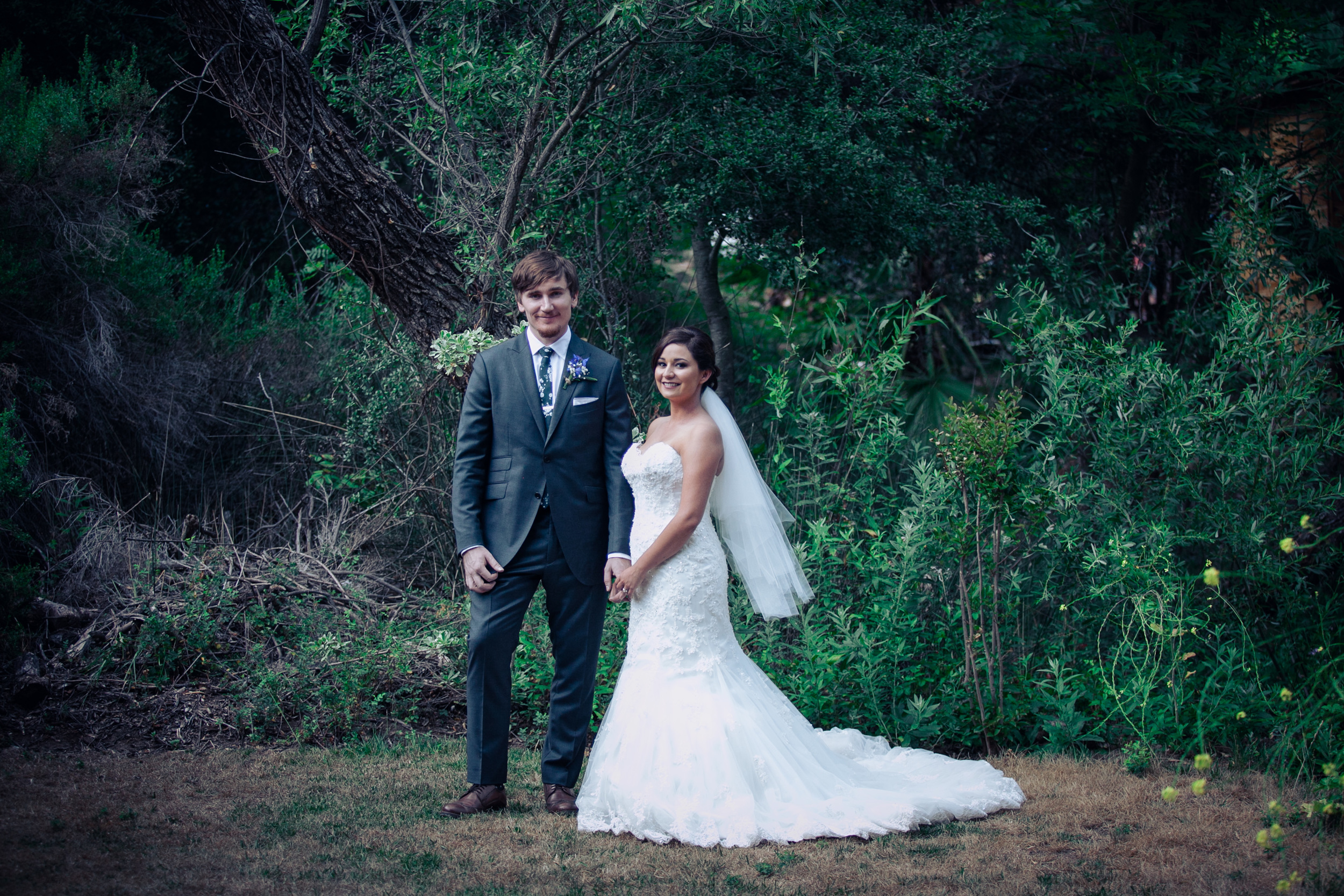 bride and groom rustic portrait photography