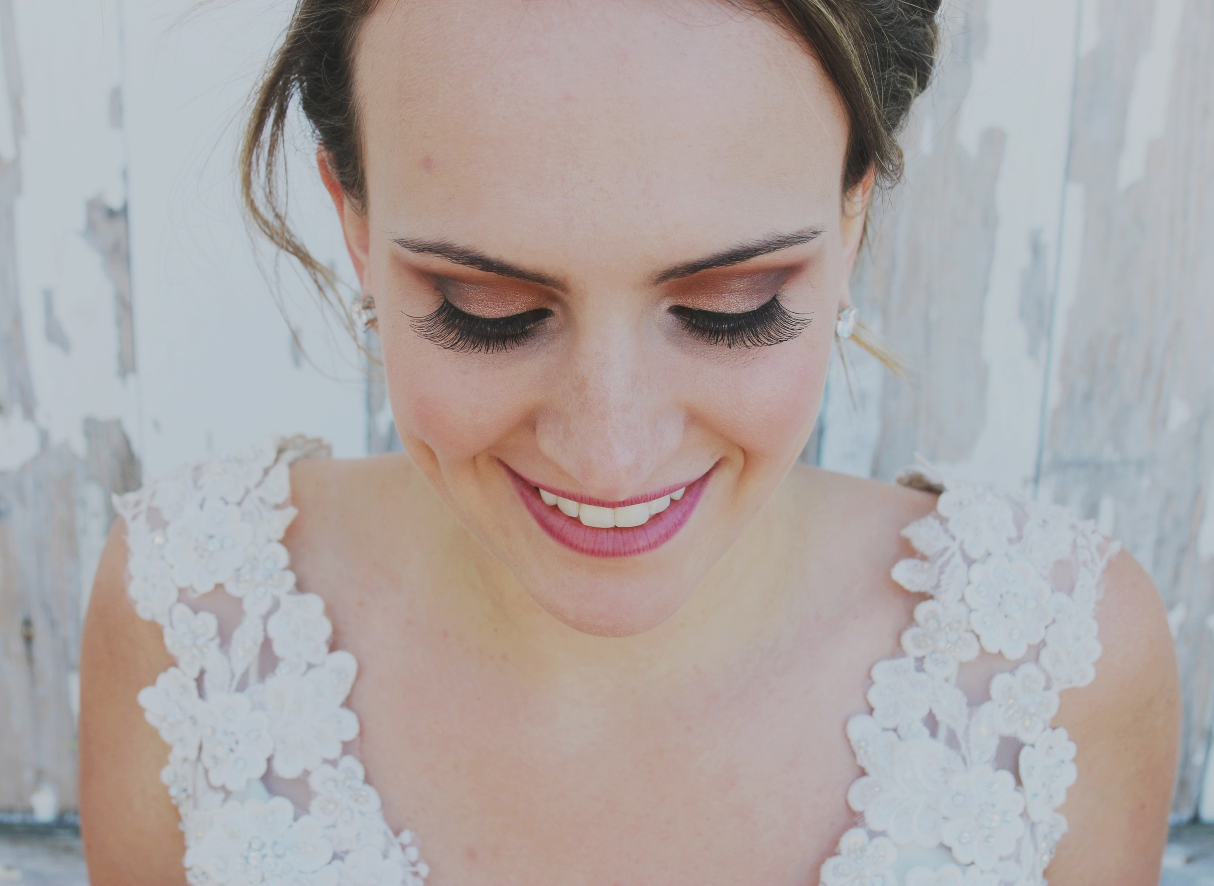 rustic bride wedding makeup
