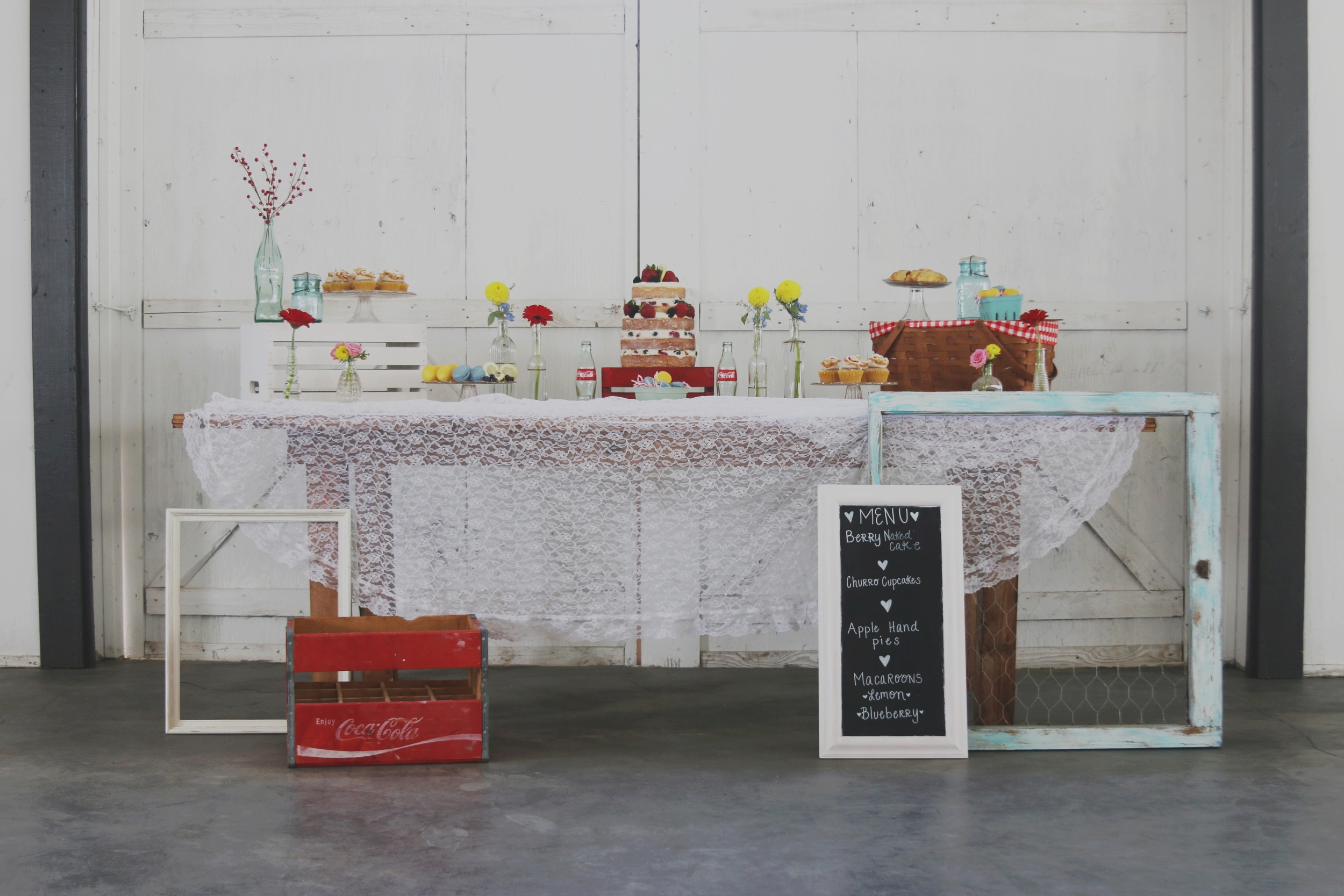rustic wedding dessert sweets buffet