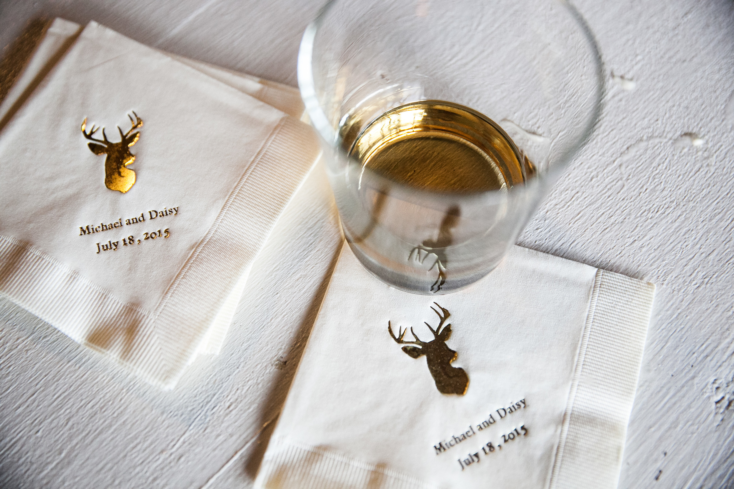 vintage inspired wedding personalized cocktail napkins