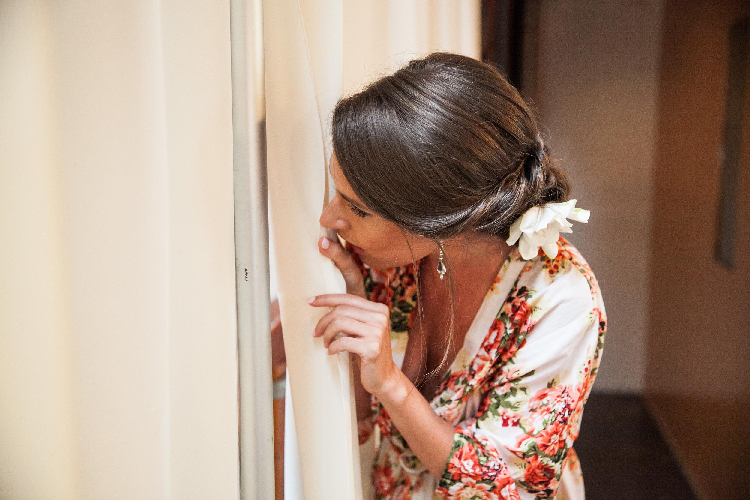 vintage inspired wedding bridesmaid robe