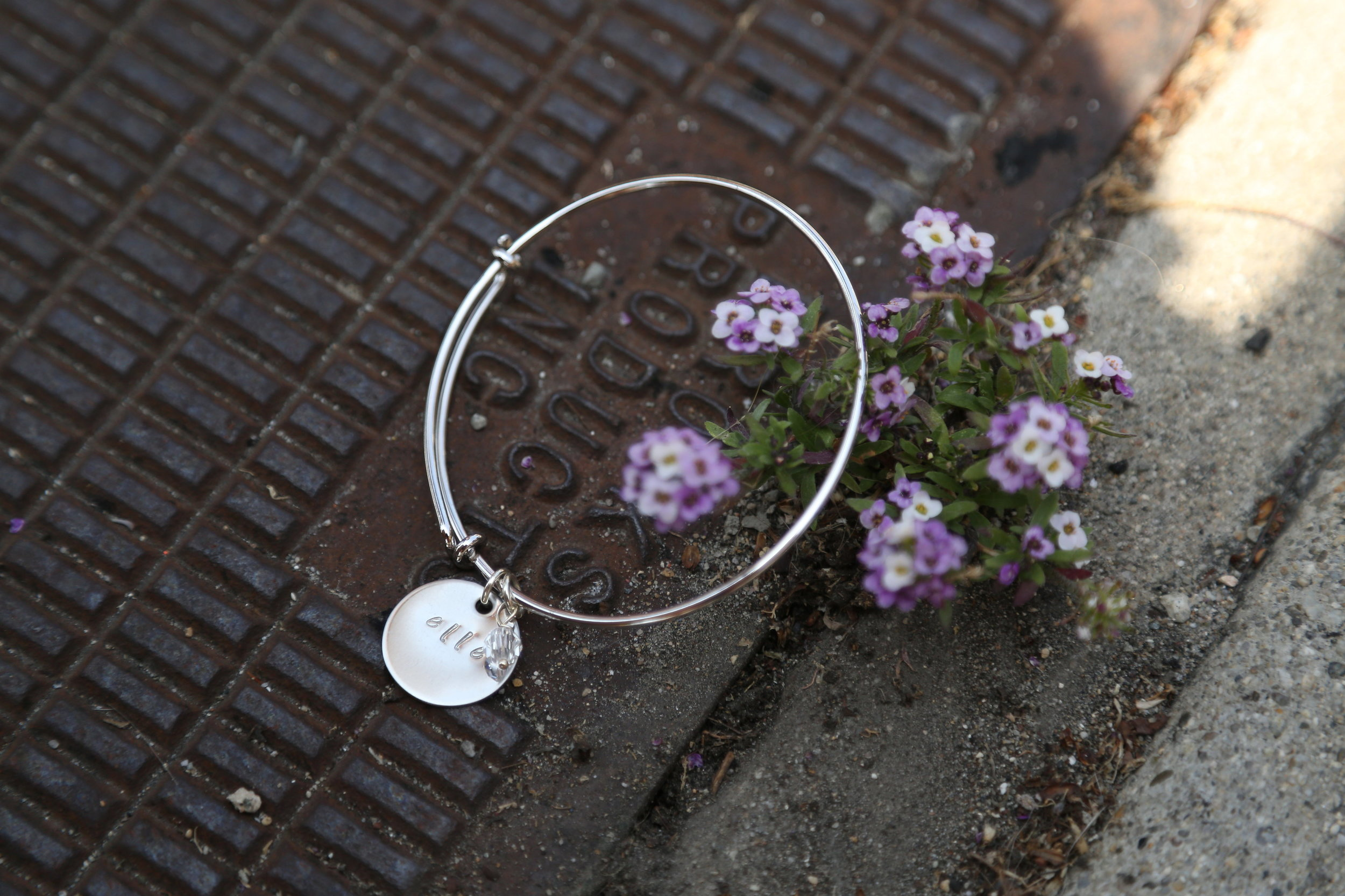 bridesmaid gift bangle bracelet R & E Avenue