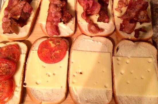 Roasted Tomato + Cheese Sandwiches recipe