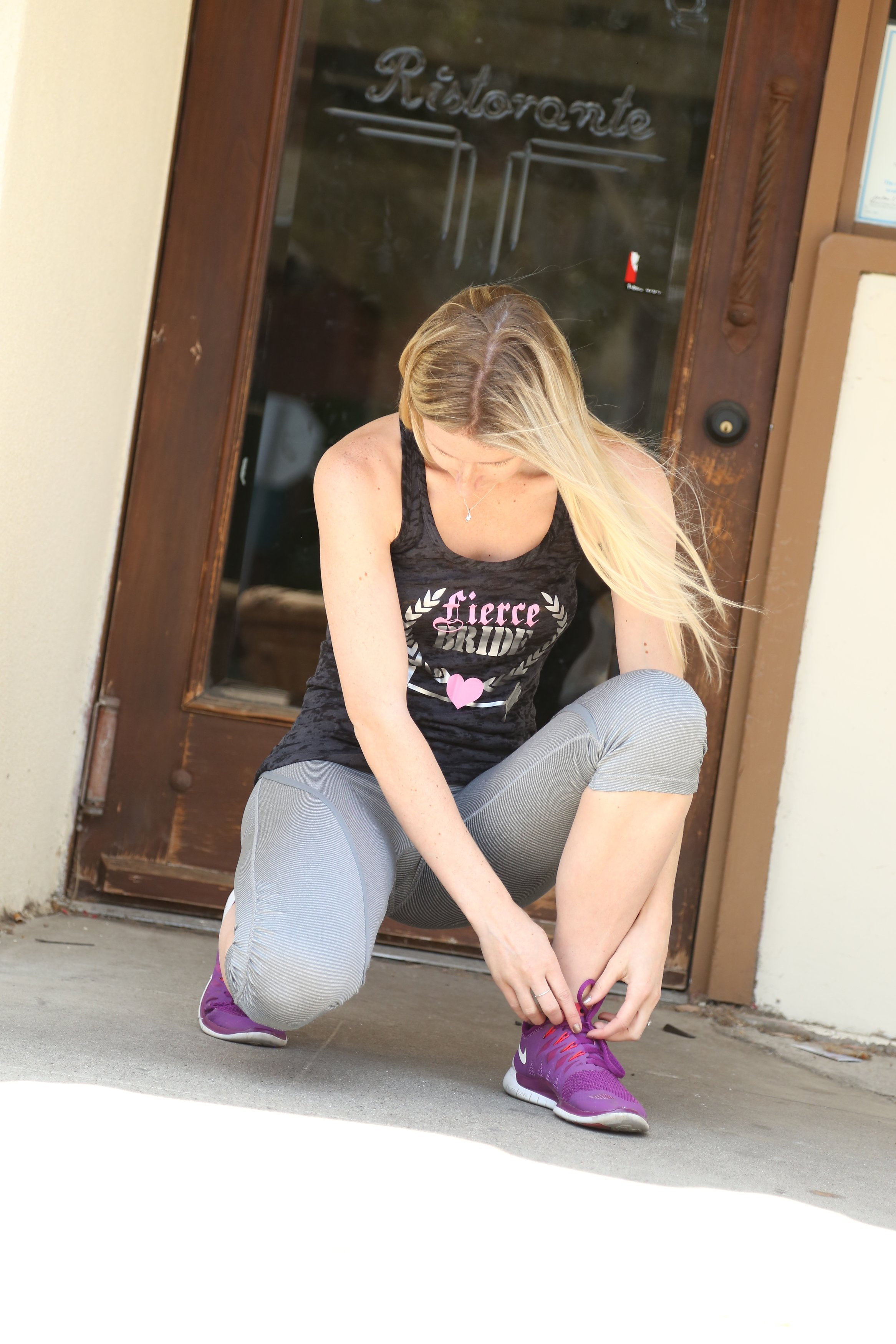 bride workout tank // the bridal boutique by the overwhelmed bride wedding blog