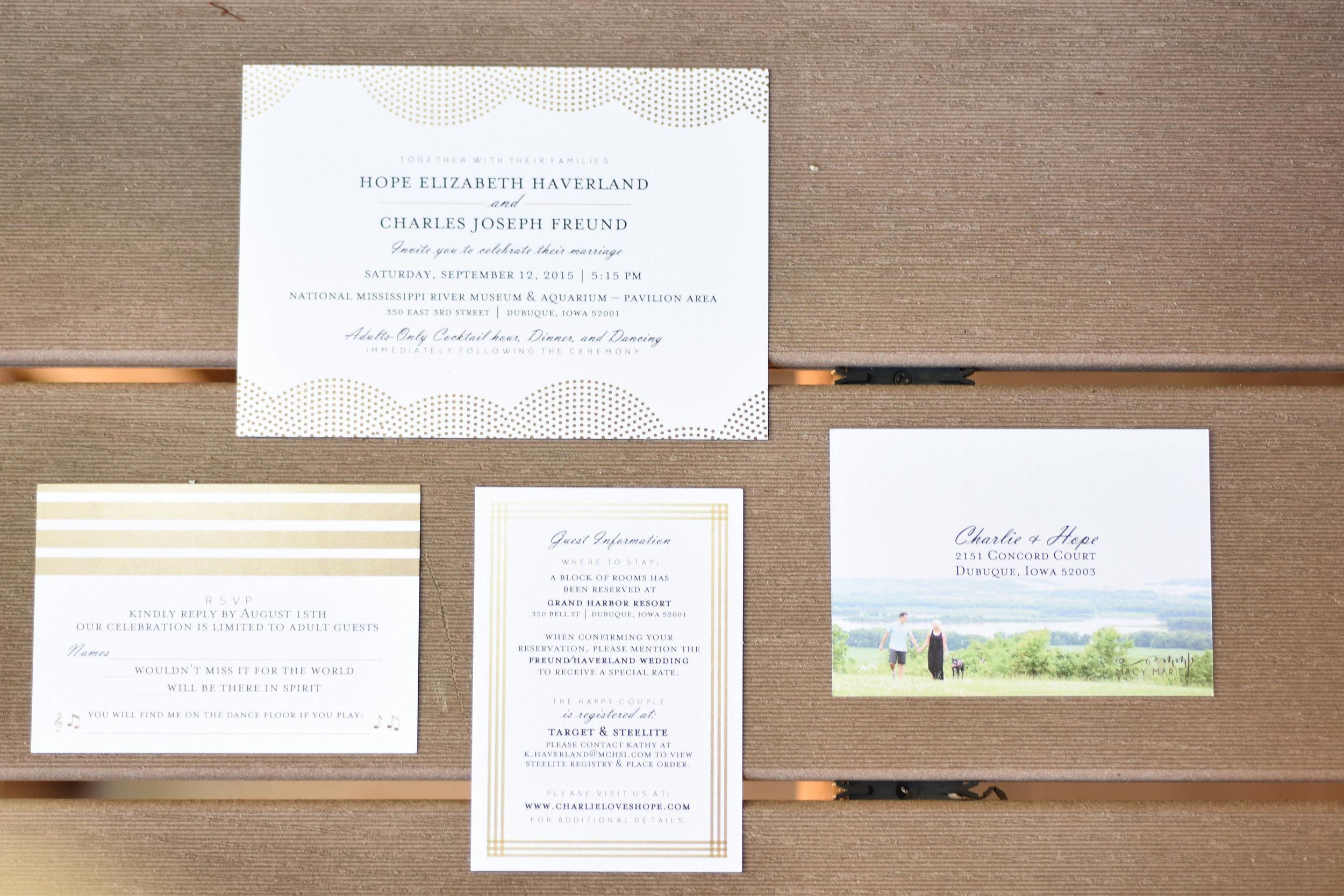 simple wedding invitations blush // macy marie photography wedding