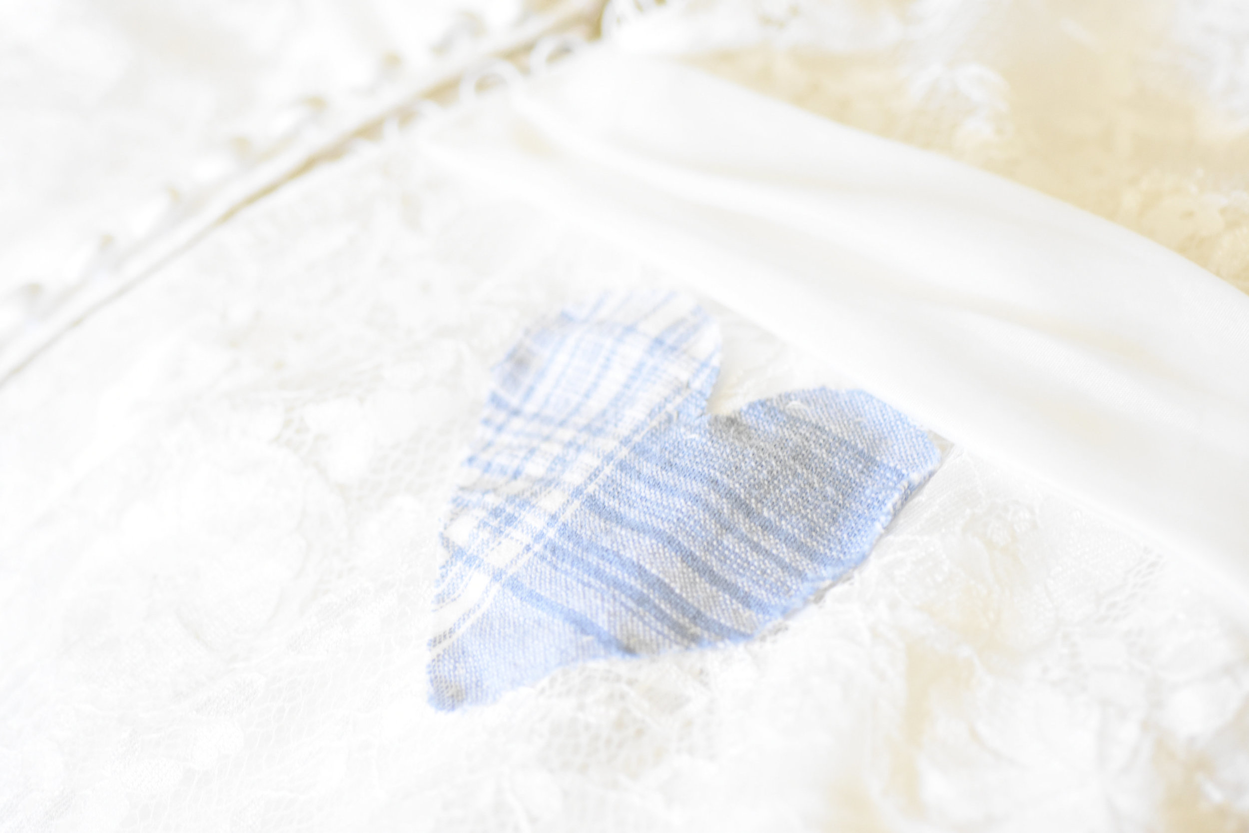 something blue heart on wedding gown // macy marie photography wedding