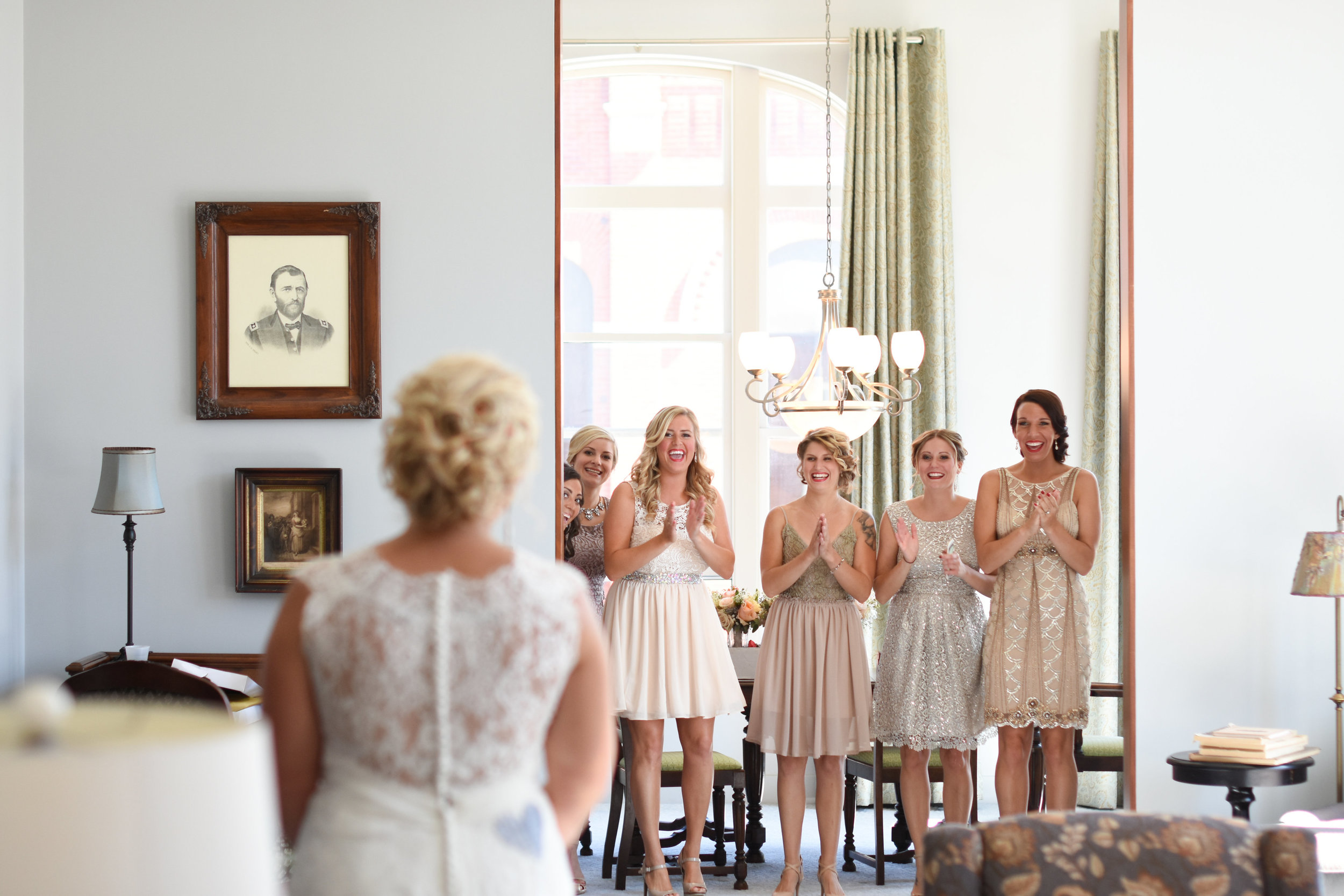 bridesmaid first look with bride // macy marie photography wedding