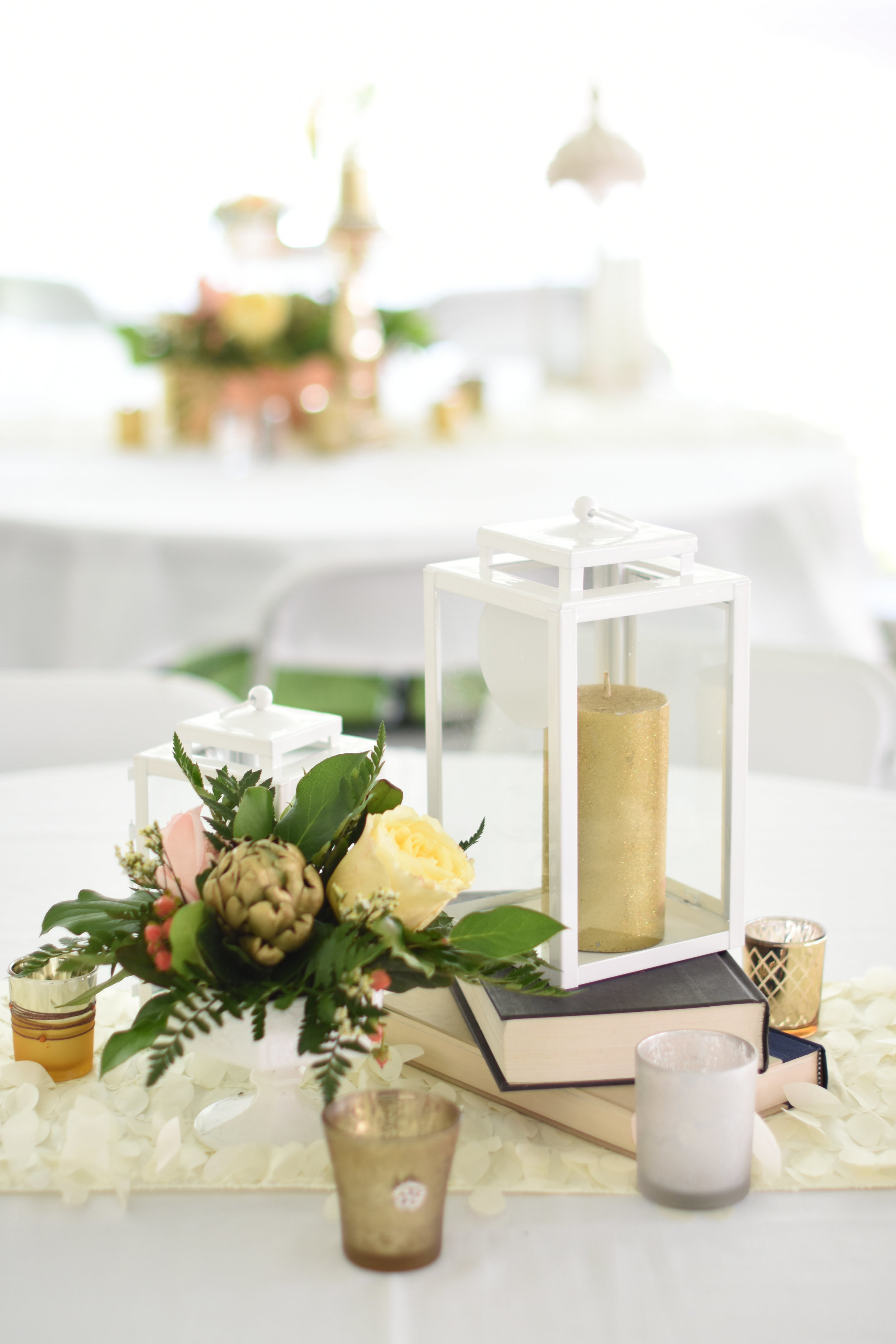 vintage book wedding reception centerpieces // macy marie photography wedding