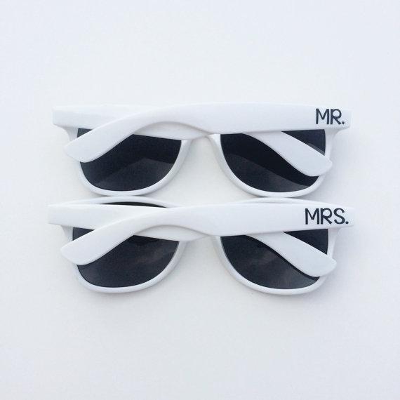 white mr and mrs sunglasses honeymoon must haves