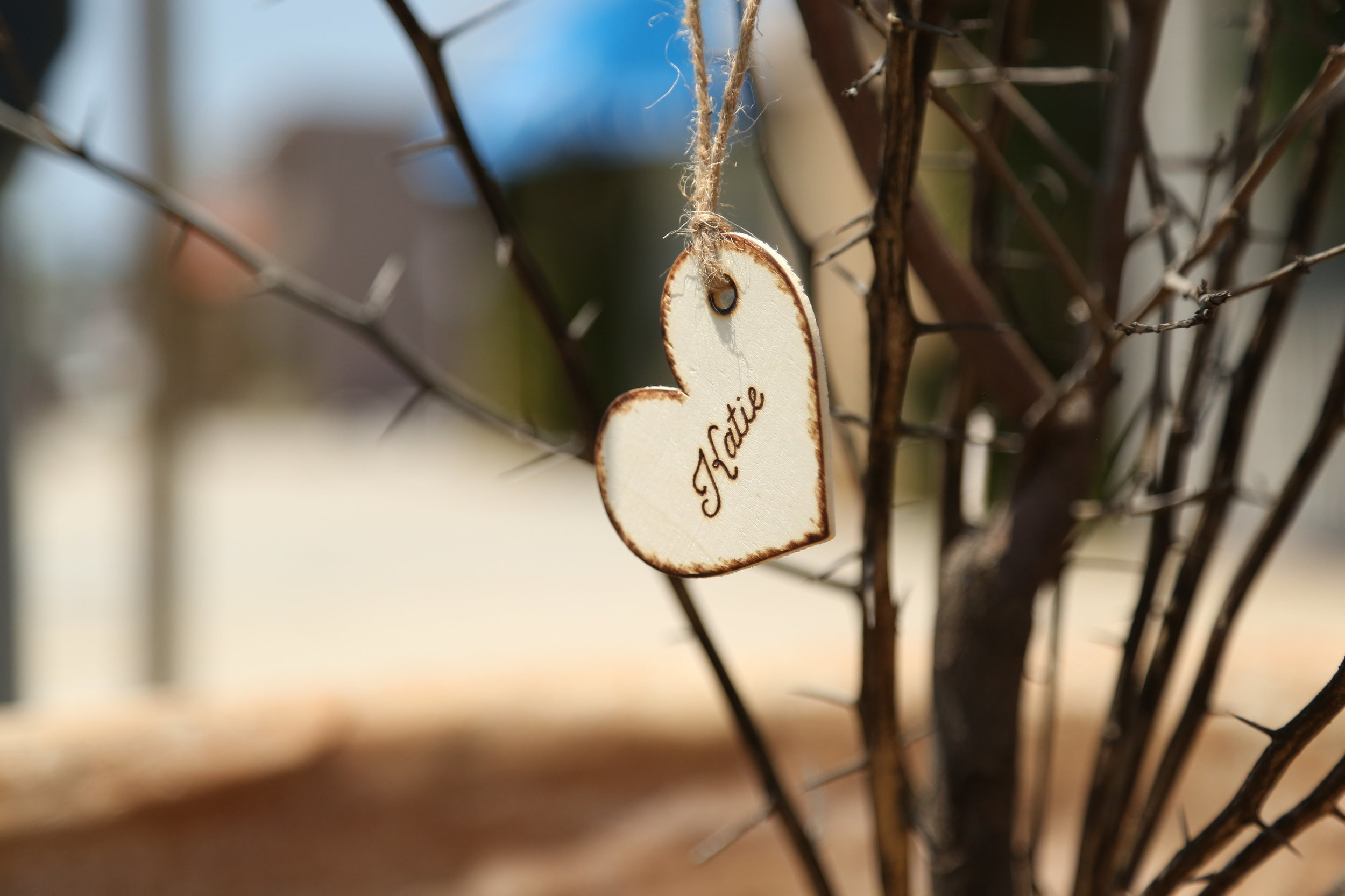 Rustic Bridesmaid Gift Tags by Mountain Pasque Design