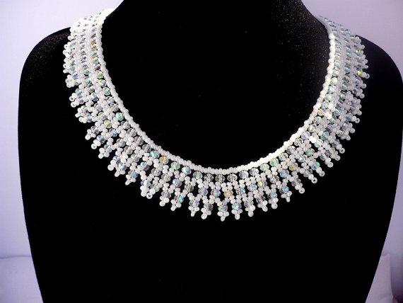 bridal statement necklace