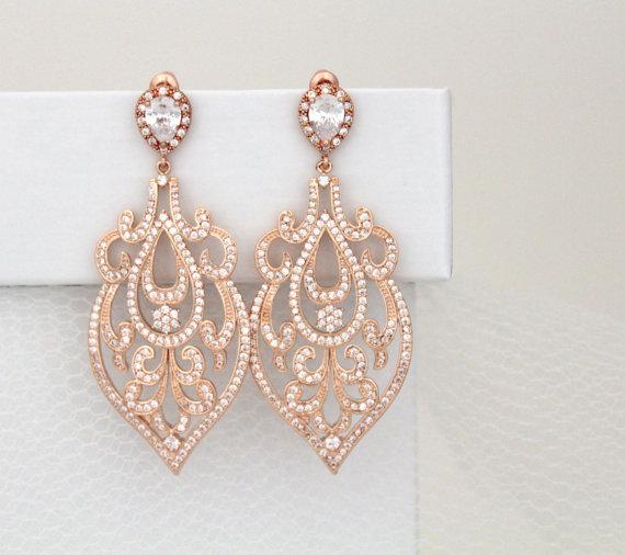 bridal statement earrings