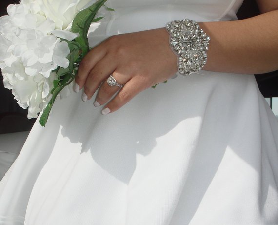 bridal statement bracelet