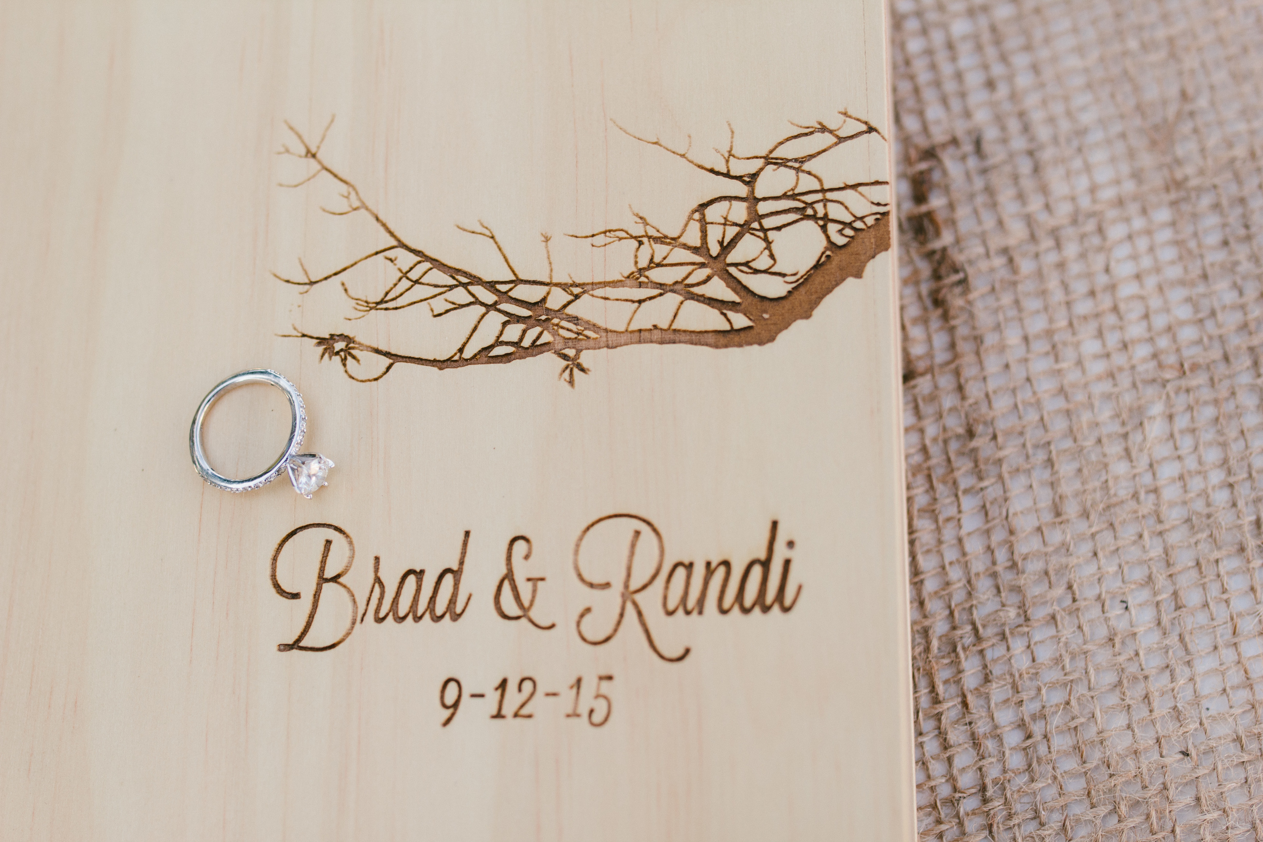 rustic wooden wedding guest book - rustic intimate oklahoma wedding at Darlington Chapel