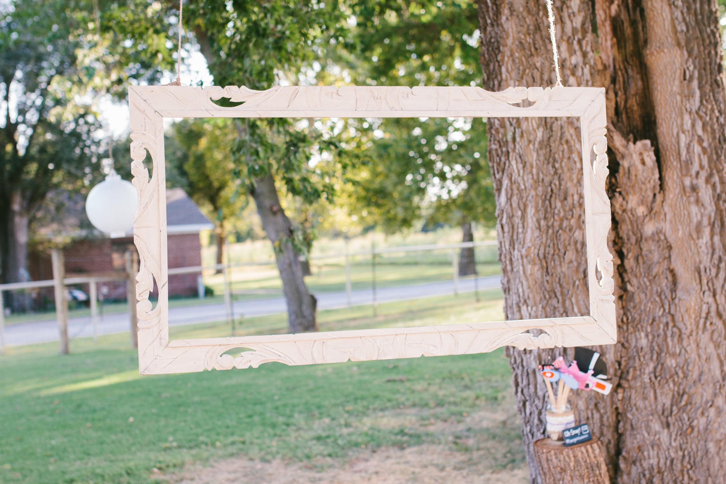 DIY outdoor photobooth - rustic intimate oklahoma wedding at Darlington Chapel