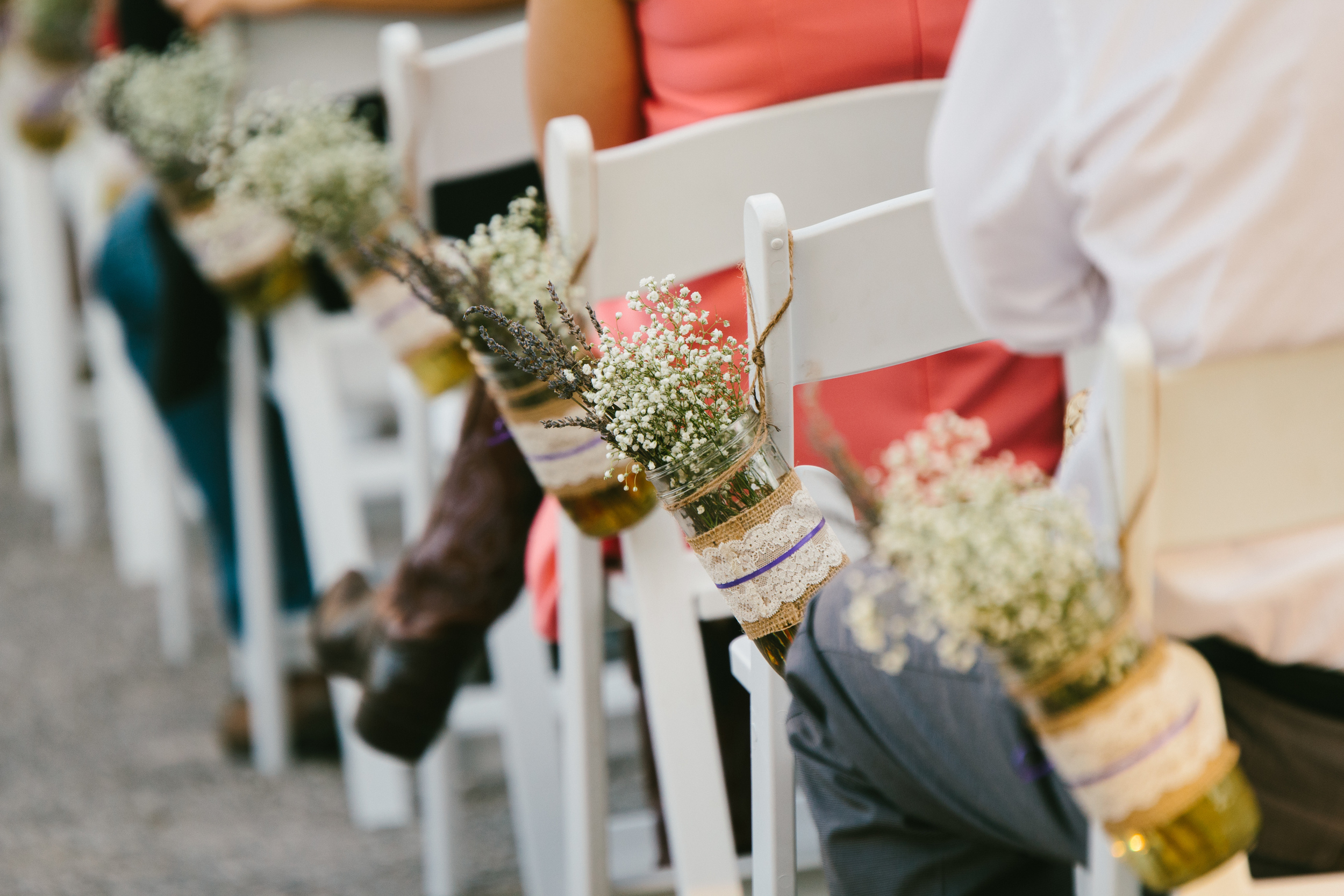 rustic wedding ceremony decor - rustic intimate oklahoma wedding at Darlington Chapel
