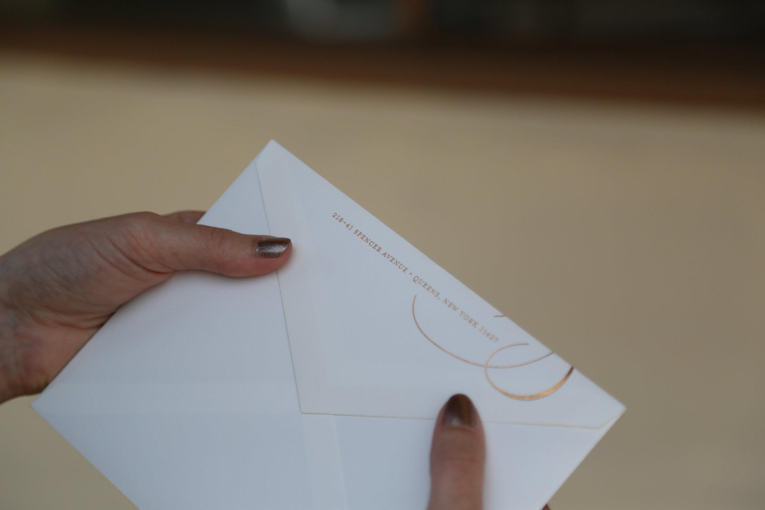 Gold Foil Wedding Invitation Suite by Pomp Creative