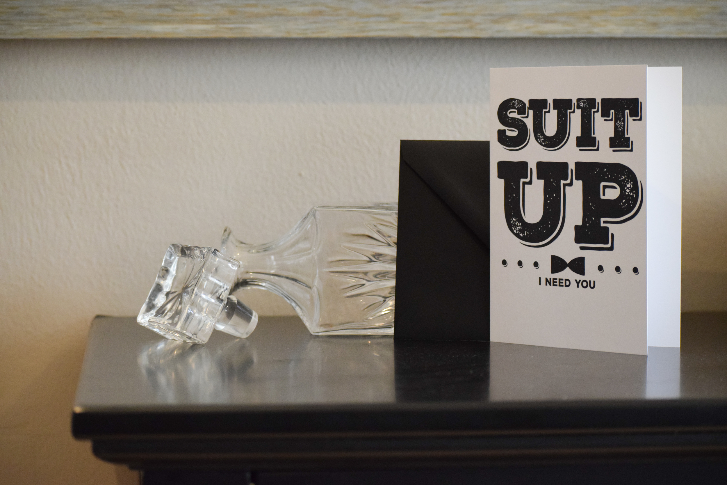 Suit Up Groomsman Proposal Card by Catch 22