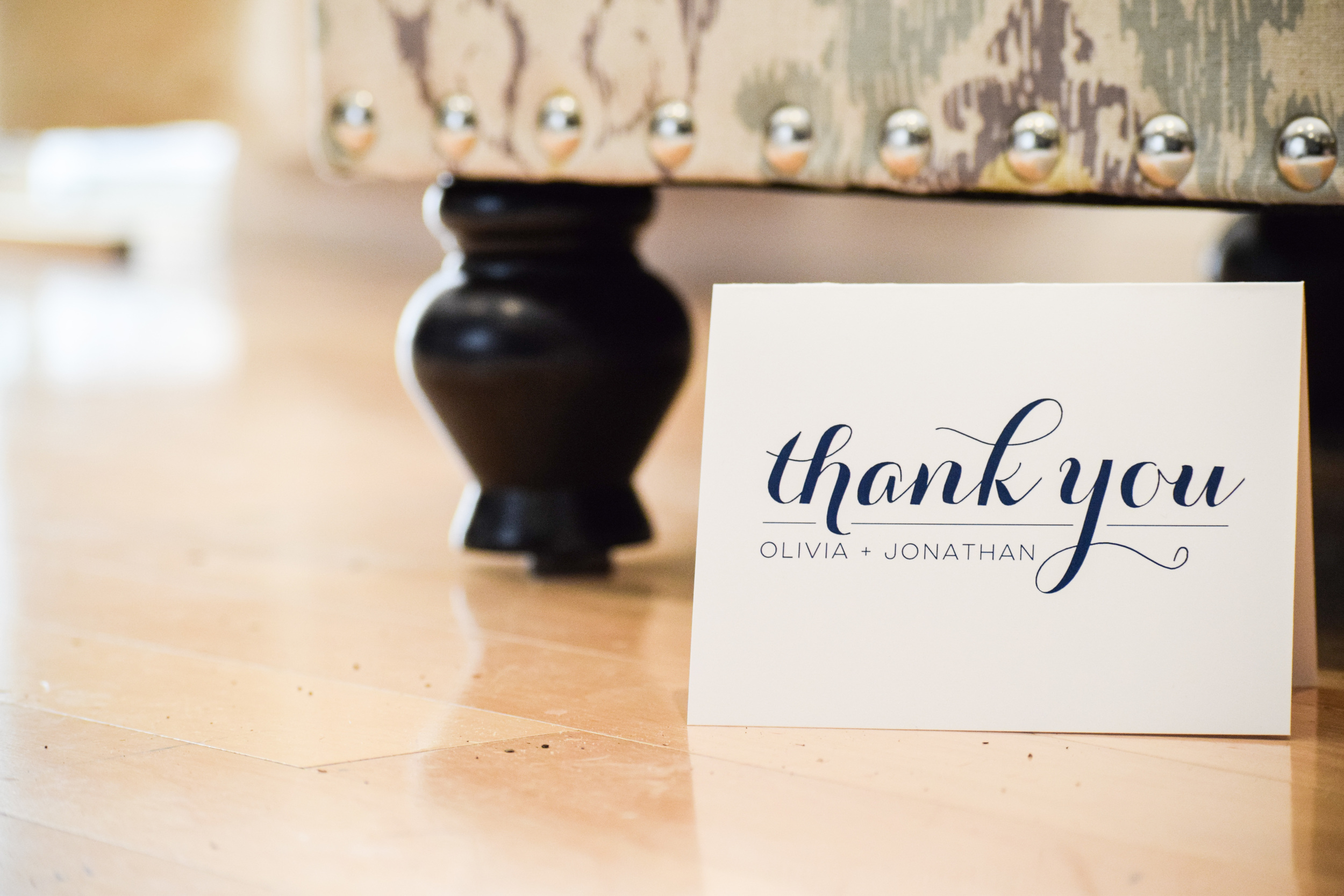 Personalized Wedding Thank You Cards by Second City Stationery