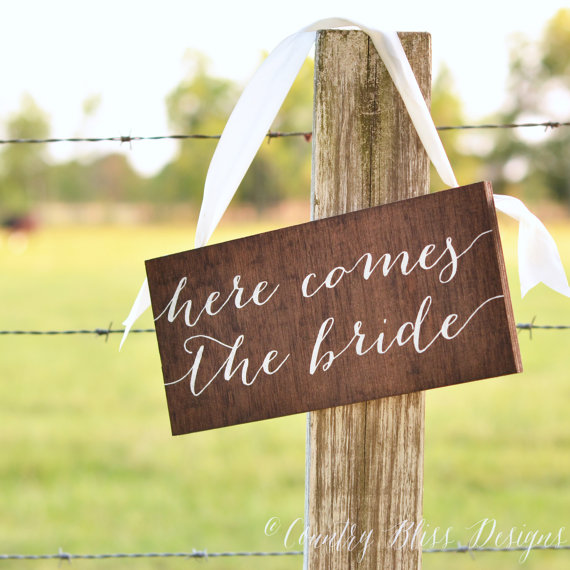 ring bearer signs - here comes the bride