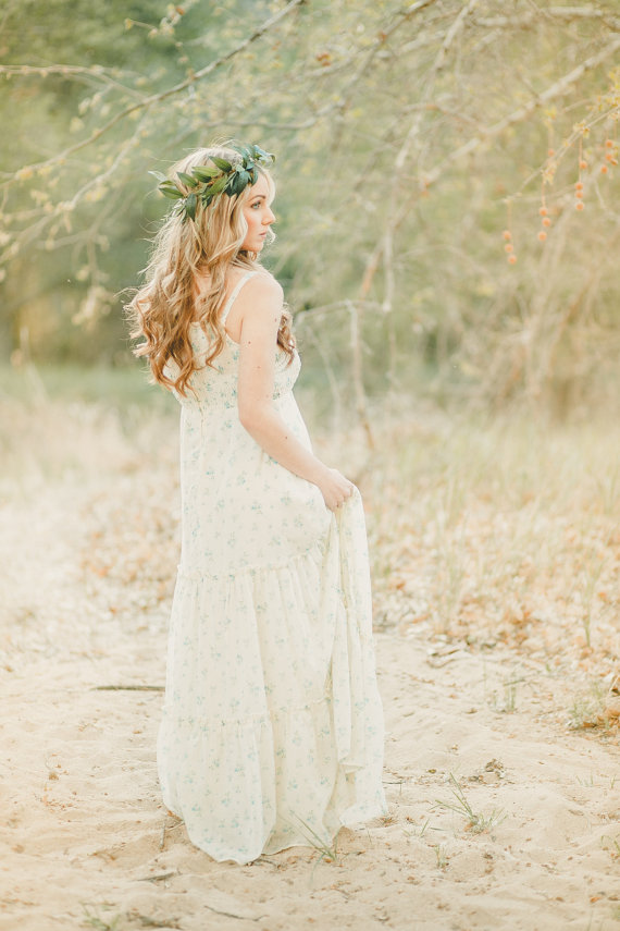 The Eve Flower Crown created with lush greenery