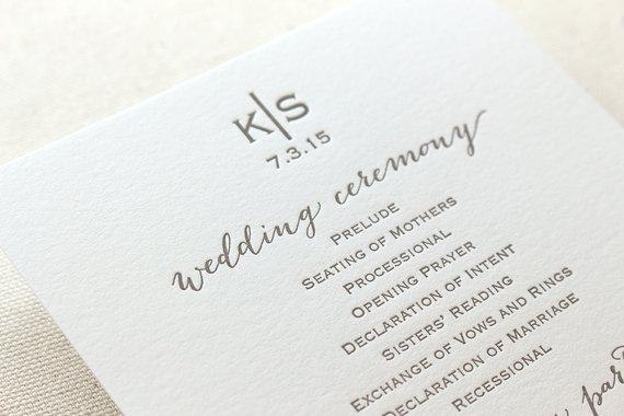 26 Unique Wedding Ceremony Programs We Absolutely Adore