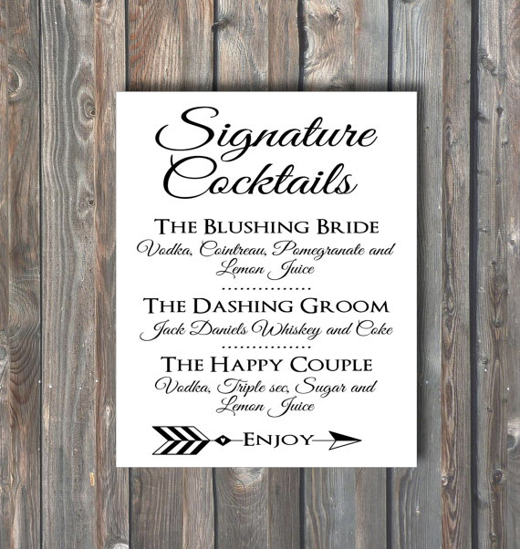 signature cocktail ideas for a wedding