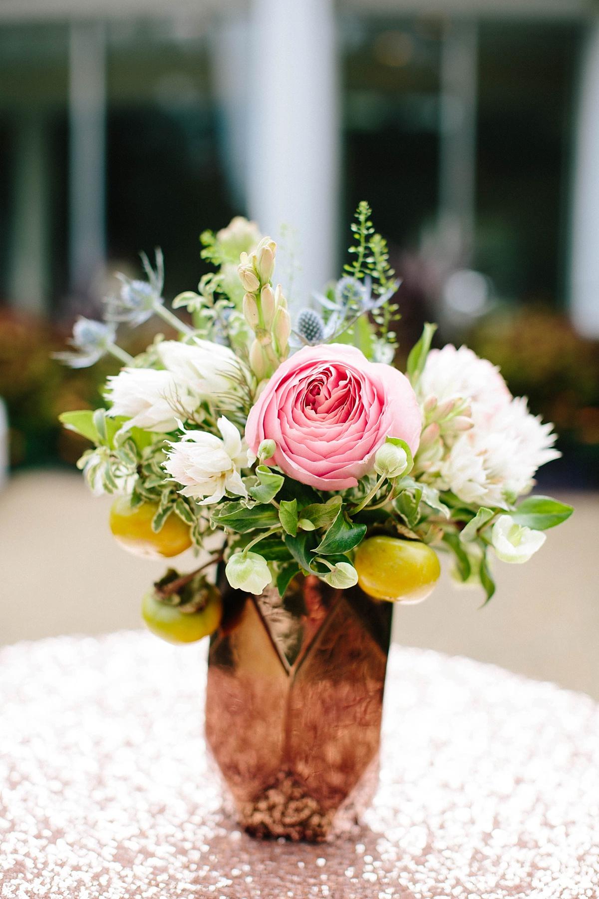 rose gold wedding centerpiece - davids bridal