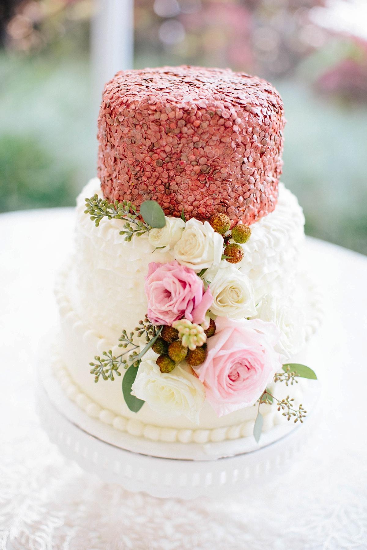 rose gold wedding cake davids bridal