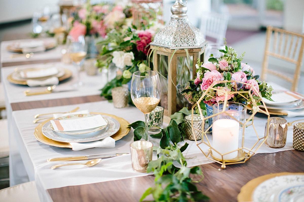 vintage wedding tablescape - davids bridal