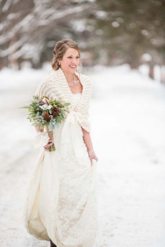 winter wedding shawl