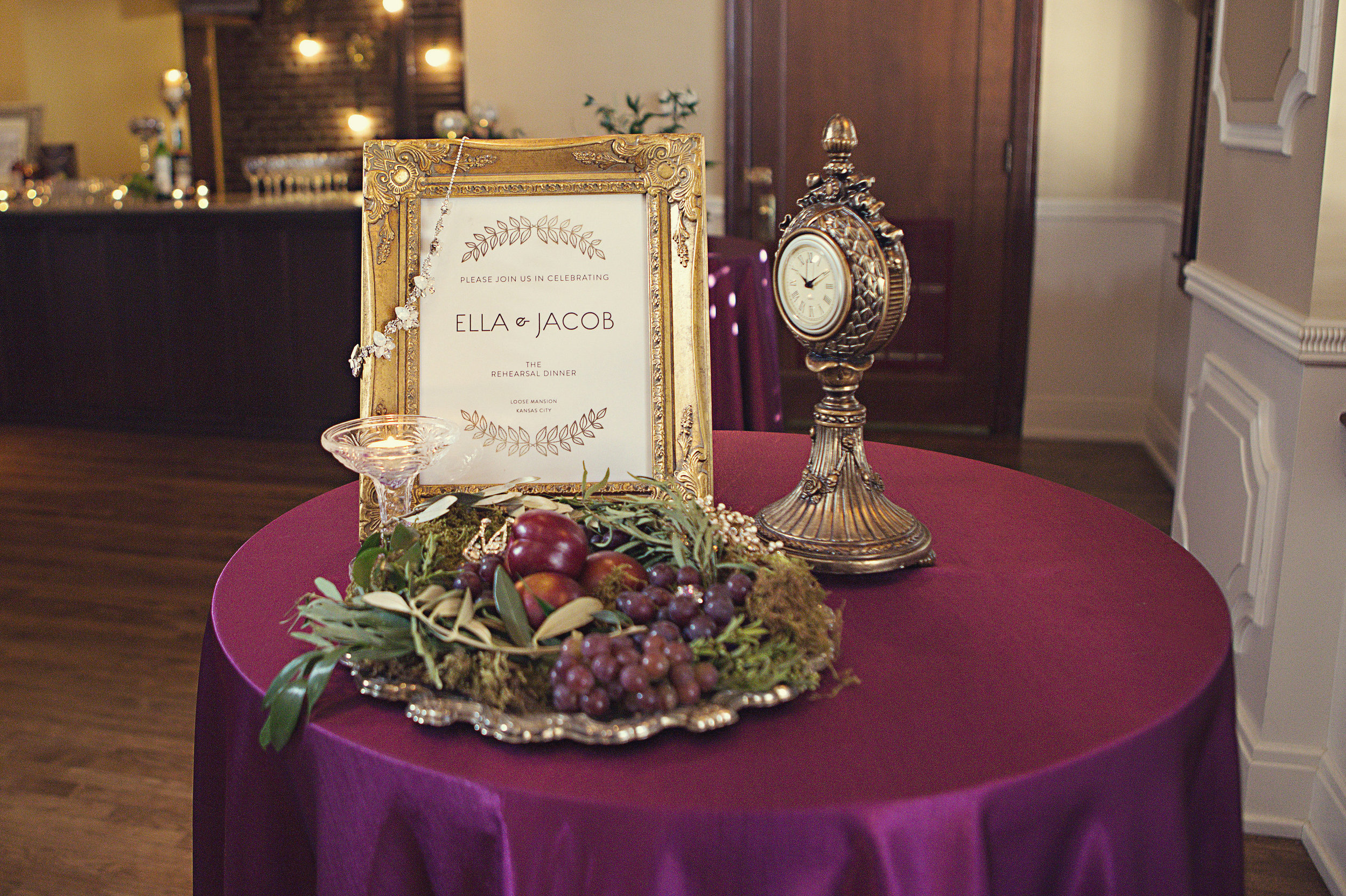 timeless vintage rehearsal dinner - kansas city wedding loose mansion